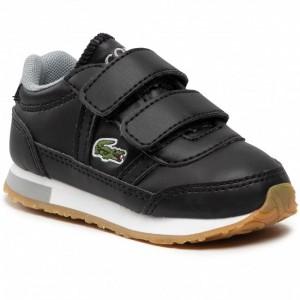 LACOSTE INFANTS PARTNER 0721 TRAINER BLACK