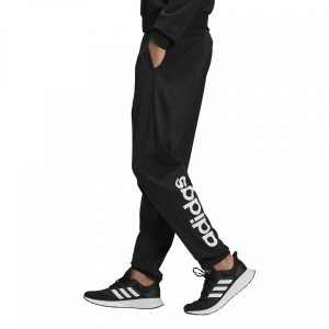 ADIDAS MENS ESSENTIALS TAPERED LINEAR PANT BLACK