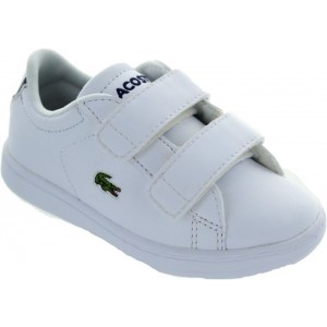 LACOSTE INFANTS CARNABY EVO BL 1 TRAINER WHITE