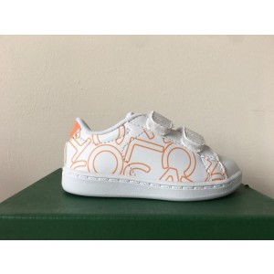 LACOSTE INFANTS CARNABY EVO STRAP TRAINER WHITE