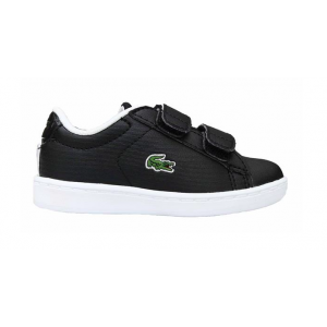 LACOSTE INFANTS CARNABY EVO STRAP TRAINER BLACK