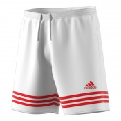 ADIDAS MENS ENTRADA 14 FOOTBALL SHORTS WHITE