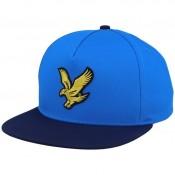 LYLE & SCOTT COLOUR BLOCK EAGLE CAP BLUE