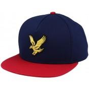 LYLE & SCOTT COLOUR BLOCK EAGLE CAP NAVY