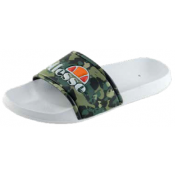 Ellesse Mens Duke Pool Sliders Camo/Green/White
